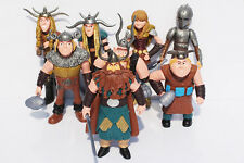 How To Train Your Dragon Night Fury Play Set 8pc Action Figures Large 4-1/2""