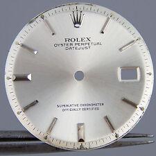 Genuine Rolex DateJust Silver Factory Dial Pie Pan Non Quickset Slow Set 1601