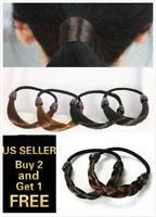 Womens Braid / Straight Wig Elastic Hair Band Rope Scrunchie Ponytail Holder