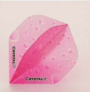 Crystal Extra Strong 100 Micron Pink Dart Flights