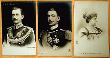 3 Photo Postcards Duca & Duchessa D'Aosta Italy Royalty Prince Emauele Filiberto