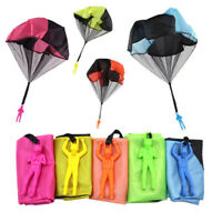 Hand Throwing Mini Soldier Parachute Outdoor Game Play Funny Toy Random