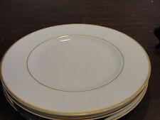 "Villeroy Boch Charleston Gold 3 Luncheon Plates 8 3/8"""