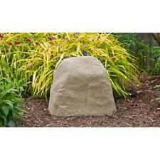 Outdoor Landscape Rock Boulder Fake Garden Tan Stone Valve Cover Garden Decor