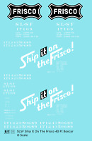 K4 O Decals SLSF Frisco 40 Ft Boxcar White Ship It On The Frisco