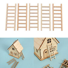 5pcs Mini Wooden Step Ladder Home Decor Miniature Micro Landscape DIY Ornament