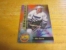 Mike Barrie 1995 Signature Rookies Promo Signatures #40 #'d 397/459 Card Sabres