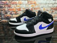Air Jordan 1 Mid (GS) Black Racer Blue 554725-084 Kids Shoes Youth Size 5.5Y, 7Y