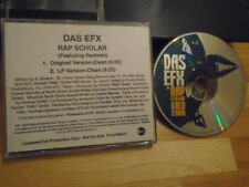 RARE PROMO Das EFX CD single Rap Scholar REDMAN original version DRAYZ dj dice !