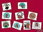 GROUNDHOG DAY 12 TEMPORARY TATTOOS Ground Hog Hogs L@@K