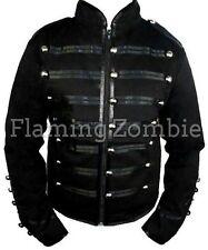 New Black Silver Red Steampunk Emo Punk Jawbreaker MCR Military Parade Jacketd