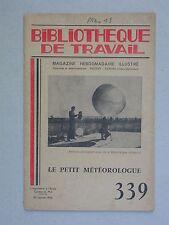 BT 339 - Le petit météorologue Vente pluie Météorologie Sciences - Chatton 1956