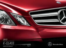2013 Mercedes Benz E-Class E350 E550 24-page Sales Brochure Catalog Convertible