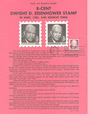#1402 8c Eisenhower Coil  Stamp Poster- Unofficial Souvenir Page Folded MC