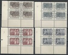 Netherlands stamps 1952 NVPH 592-595  Blocs of 4  CANC  VF