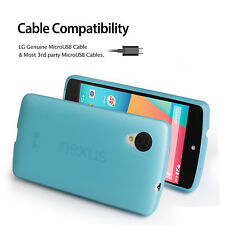 Ultra Thin Matte Back Flexible Soft Case Film+Micro USB Charger for LG Nexus 5