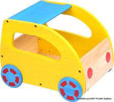*NEW Kid's Children's Toddler's WOODEN FURNITURE TOY BOX CHEST on WHEELS storage