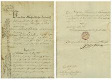 ANTIK Alte Handschrift Urkunde Grundstücksurkunde Wenigensömmern 1840