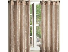 "New Grommet Top Curtain Ivory Sheer Over Taupe Curtain Panel 58"" W x 63"" H"
