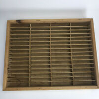 Napa Valley Box Company 64 Cassette Tape Storage Case Wall Mounting  15x19