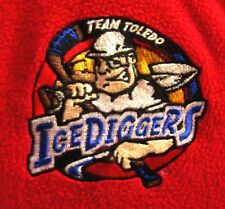 TOLEDO ICE DIGGERS youth med jacket OHIO windbreaker CEHL hockey embroidery