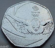 RARE BRILLIANT RIO OLYMPIC 50p TEAM GB 2016 COIN HUNT