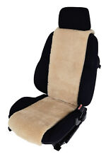 Autositz-Auflage Premium Sitzbezug aus echtem Lammfell - sekt - Breite 30 cm