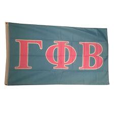 Gamma Phi Beta Light Blue/Light Pink Letter Flag 3' x 5'