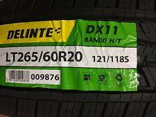 4 NEW LT 265/60R20 Delinte DX11 BANDIT H/T 10ply TIRES 2656020 265 60 R20