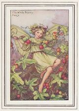 CICELY MARY BARKER c1930 THE WHITE BRYONY FAIRY Painting Vintage Art Book Print
