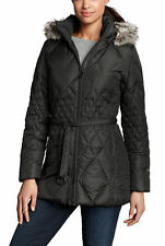 $250 Eddie Bauer Big Women Winter Down Coat Jacket Plus Size 2X 2XL Black New