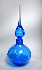 Vintage HAND BLOWN Art Glass Bottle Murano Decanter Italy