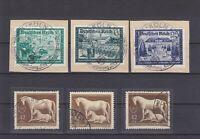 DR - Bestand von 11 Steckkarten mit Marken des Deutschen Reich - bitte ansehen !