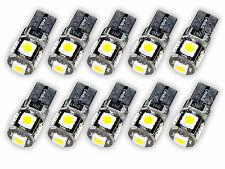 10 pezzi LED t10 w5w 5x 5050 SMD BIANCO 6000k illuminazione interna 12v l77