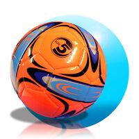 Fussball aufgepumpt Größe 5 Freizeitball Orange blau schwarz  Ball Spielball CC