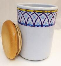 Barattolo Tiffany Ceramica Tappo Legno Geometrico Jar Fruit Ceramic Wood Nuovo