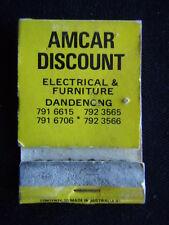 AMCAR DISCOUNT ELECTRICAL & FURNITURE DANDENONG 7916615 MATCHBOOK