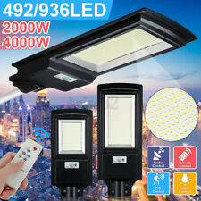 4000W 400000LM LED Solar Street Light Wall Lamp PIR Motion Sensor+Remote
