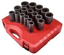 Sunex 4685 17 Piece 3/4 Drive SAE Deep Impact Socket Set
