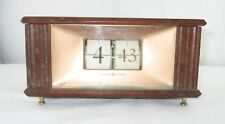Vintage General Electric Model 8113 Flip Clock Wood Case Tested and Working