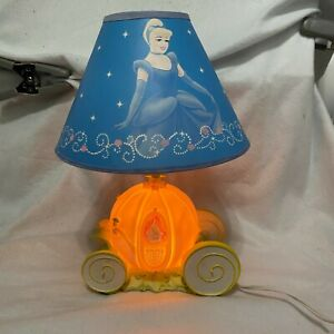 Rare Hampton Bay Cinderella Night Lamp Night Light Carriage Disney blue shade