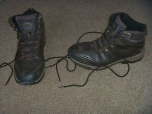 Trespass Hiram Men's Walking Boots -Size 11-Brown Leather -Waterproof/Breathable