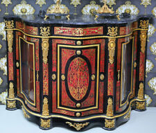 COMMODE BOULLE STYLE NAPOLEON III BUFFET VITRINE BELLE EPOQUE