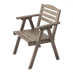 Garden Wooden Chiar Handrest Furniture Balcony Patio Table Outdoor Seat