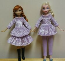 "11"" Doll Clothing Elsa /Anna Lavender Velvet 3 piece set"