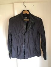 River Island Mens Cafe Racer Style Jacket Cotton/faux Leather