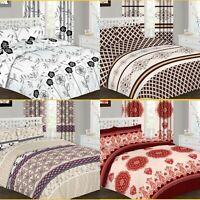 NEW Complete Duvet Cover Set, Quilted Cover Pillow Cases, Fitted Sheet All Sizes