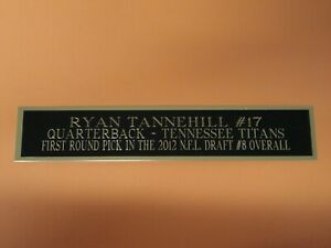 Ryan Tannehill Football Card Plaque Or Display Case Nameplate Titans 1.5 X 8