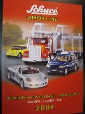 Schuco Junior Line Neuheiten Sommer 2004 (Duits / Engels / Frans)