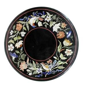 21 Inches Marble Coffee Table Top Antique Work Center Table Inlay with Bird Art